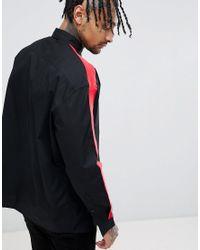 ASOS Regular Fit Shirt With Tape Detail In Black for men