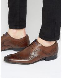 Ted Baker Brown Oakke Leather Brogue Derby Shoes for men