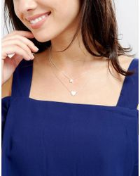 Estella Bartlett - Metallic Always In My Heart And Dream Big Silver Plated Necklace Set - Lyst