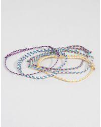 ASOS - Multicolor Plaited Fabric Bracelet Pack for Men - Lyst