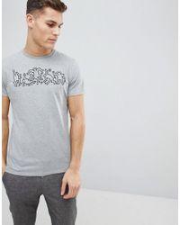 Stradivarius Gray Keith Haring T-shirt In Grey for men
