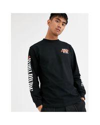 Camiseta Huf de hombre de color Black