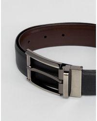 Barney's Originals Barneys Smart Reversible Leather Belt In Black And Brown for men