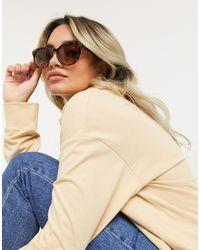 SELECTED Metallic Femme Round Sunglasses
