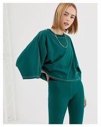 Stab - T-shirt court à manches kimono et surpiqûres Ivy Park en coloris Green