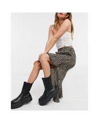 TOPSHOP Brown Pleated Skirt