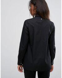 Back by Ann-Sofie Back Black Back By Ann Sofia Back Drunk Asymmetric Wrap Shirt