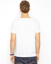 ASOS White T-Shirt With Wide Boat Neck for men