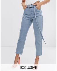 Jeans con cintura di Liquor N Poker in Blue
