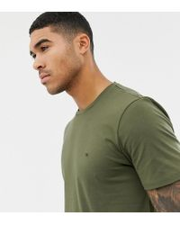 Calvin Klein Green T-shirt With Small Logo Olive Night Exclusive At Asos for men