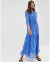 Vestido largo Vila de color Blue