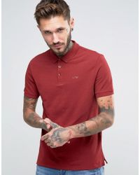 Armani Jeans Red Polo Shirt With Logo Regular Fit In Burgundy for men