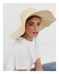 Esclusiva - Cappello di paglia naturale con falda morbida oversize con ferretto di South Beach