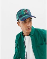 6.0 Limited Capsule - Casquette de baseball à logo écusson et motif à carreaux écossais Tommy Hilfiger pour homme en coloris Blue
