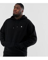 ASOS Black Plus Oversized Hoodie for men