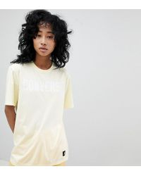 Camiseta limón con logo Premium Essentials Converse de color Yellow