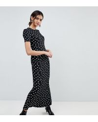 dc23e3e58c2 ASOS City Maxi Tea Dress In Polka Dot Print - Lyst