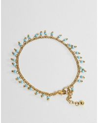 ASOS - Metallic Design Pack Of 2 Petal Disc And Bead Anklets - Lyst