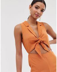 Комбинезон С Завязкой Спереди -оранжевый Fashion Union, цвет: Orange