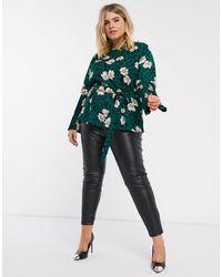 Топ С Леопардовым И Цветочным Принтом -мульти AX Paris, цвет: Green