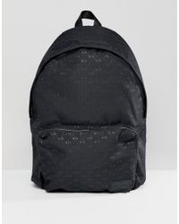 7cc19d219393 Armani Exchange Nylon All Over Ax Logo Backpack In Black in Black ...
