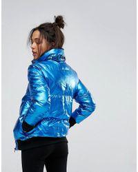 Calvin Klein | Blue Jeans Metallic Padded Jacket | Lyst