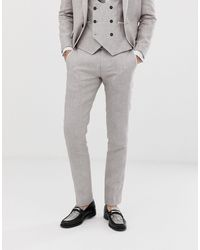 Twisted Tailor Gray Runner Super Skinny Suit Trouser for men