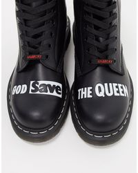Черные Ботинки С 8 Парами Люверсов X Sex Pistols 1460-черный Dr. Martens для него, цвет: Black