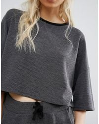 Native Youth - Gray Relaxed Boxy Crop Sweat Co-ord - Lyst