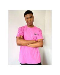 Napapijri Pink Patch T-shirt for men