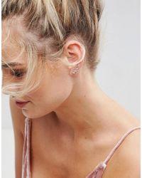 ASOS - Metallic Vine Leaf Ear Climber - Lyst