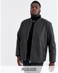 Originals - Veste en imitation cuir Jack & Jones pour homme en coloris Black