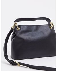 Maxi borsa nera con catena di Love Moschino in Black