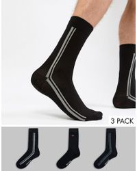 Ben Sherman 3 Pack Black Sock for men