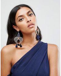 ASOS - Metallic Statement Chandelier Jewel Earrings - Lyst