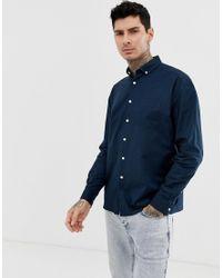 Camisa Oxford extragrande en azul marino ASOS de hombre de color Blue