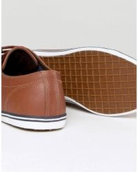 Fred Perry | Brown Kingston Leather Sneakers for Men | Lyst