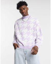 Jersey lila extragrande ASOS de hombre de color Purple