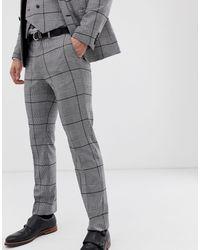 Burton Black Wedding Slim Fit Suit Trousers for men