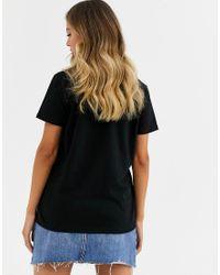 ASOS Black T-shirt With Neon Glow Collage Motif