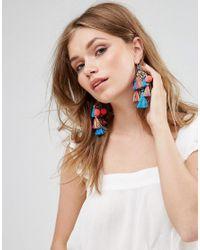 Glamorous Multicolor Multi Tassel Statement Earrings