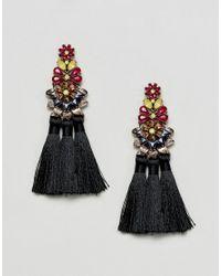 ALDO - Multicolor Olilade Jewelled Tassel Statement Earrings - Lyst