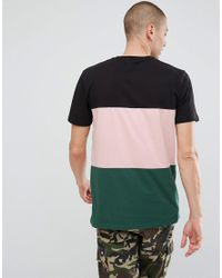 ASOS - Black Relaxed Fit T-shirt With Colour Block for Men - Lyst