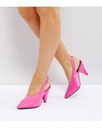 New Look Pink High Vamp Cone Heel Shoe