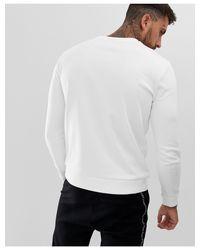 Dicago - Felpa con logo sul petto bianca di HUGO in White da Uomo