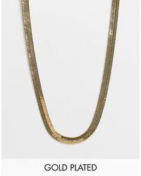 Позолоченное Ожерелье-цепочка С Плоскими Звеньями -золотистый Orelia, цвет: Metallic