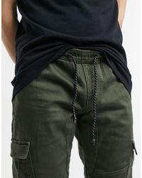 Tom Tailor Green Cargo Trackies for men