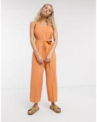 Tuta jumpsuit di TOPSHOP in Orange