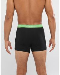 CALVIN KLEIN 205W39NYC - Black Trunks 3 Pack Cotton Stretch for Men - Lyst