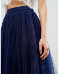 Little Mistress Blue Maxi Tulle Skirt